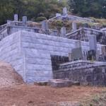 分類:石工事 墓地石積工事 完成