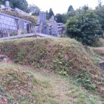分類:石工事 墓地石積工事 着工前